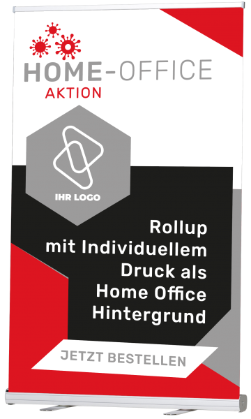 Homeoffice Background RollUp Basic - inkl. Druck