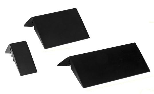 Aufstellerfuß Aluminium schwarz -ohne Plattendisplay